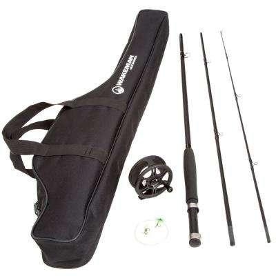 Fly Fishing Rod Combo Kit with Carrying Case