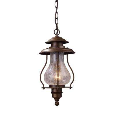 Wikshire 1-Light Coffee Bronze Outdoor Ceiling Mount Pendant