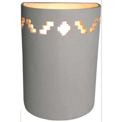 1-Light Tan Ceramic Sconce