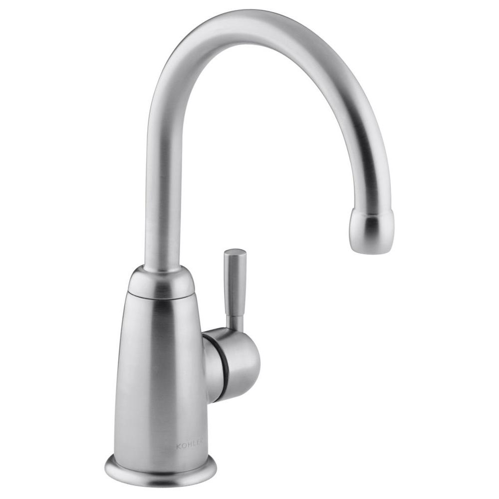 Wellspring Single Handle Bar Faucet in Brushed Chrome