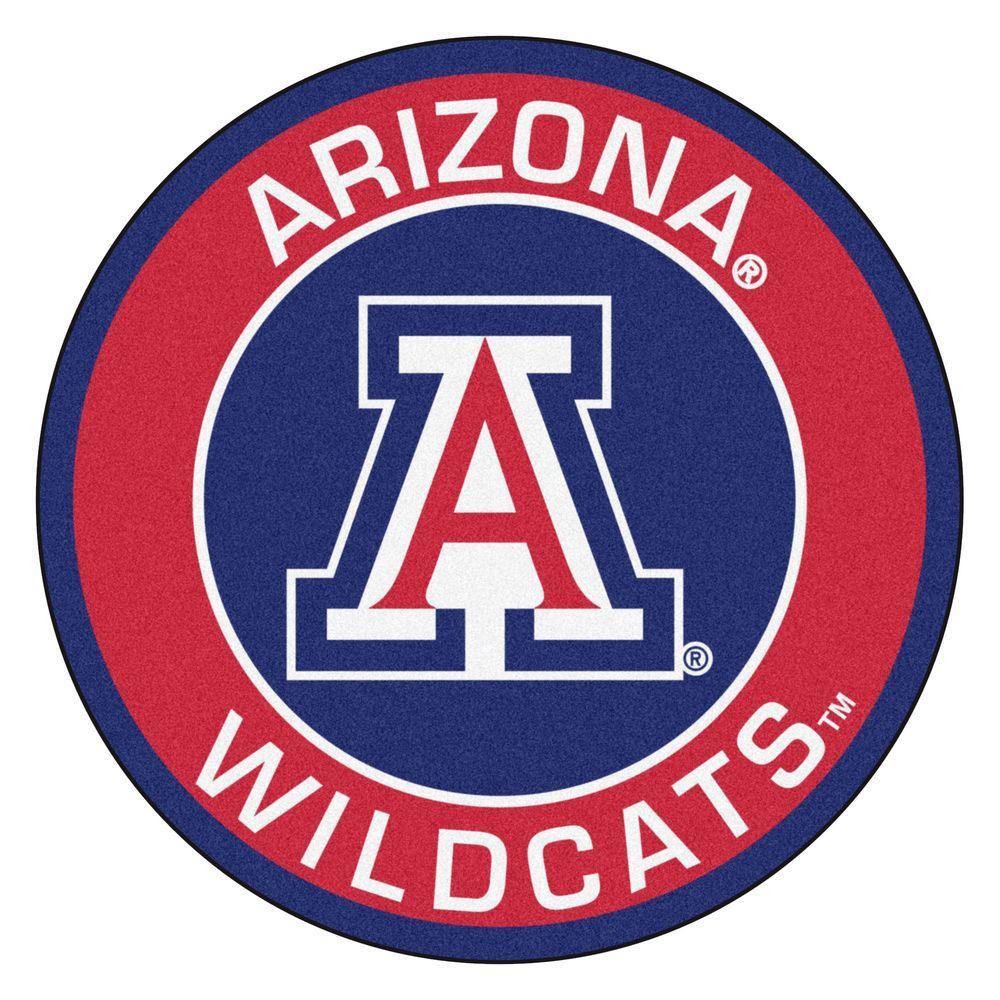 Fanmats Ncaa University Of Arizona Red 2 Ft X 2 Ft Round