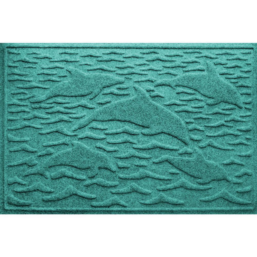 Aqua Shield Aquamarine 24 In. X 36in Statement Of Porpoise