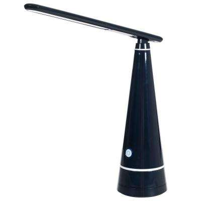 15 in. Black Contemporary LED Desk Lamp