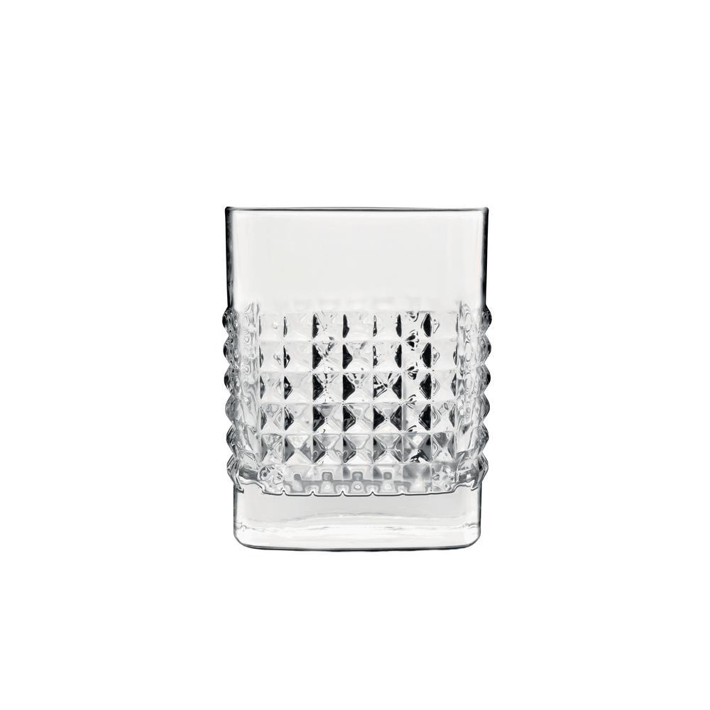 Mixology 12.75 fl. oz. Lead-Free Crystal Glass Elixir DOF Drinking Glass (4-Pack)