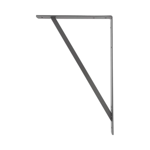 20 in. x 13 in. Gray Heavy Duty Shelf Bracket