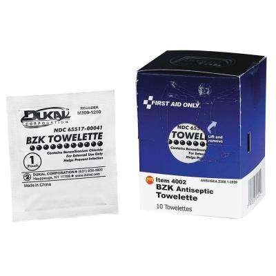 Antiseptic Towelettes Packets (10 per Box)