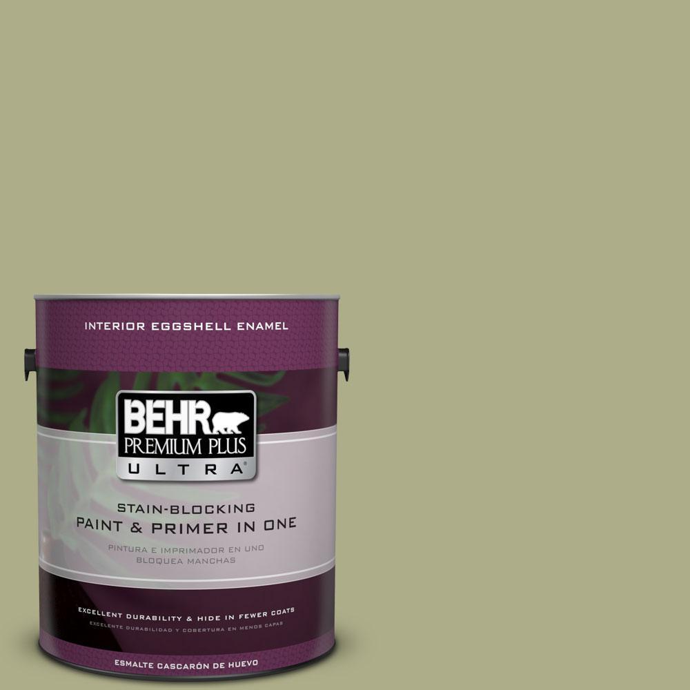 BEHR Premium Plus Ultra 1 gal. #PPU9-21 Sanctuary Eggshell Enamel Interior Paint and Primer in One