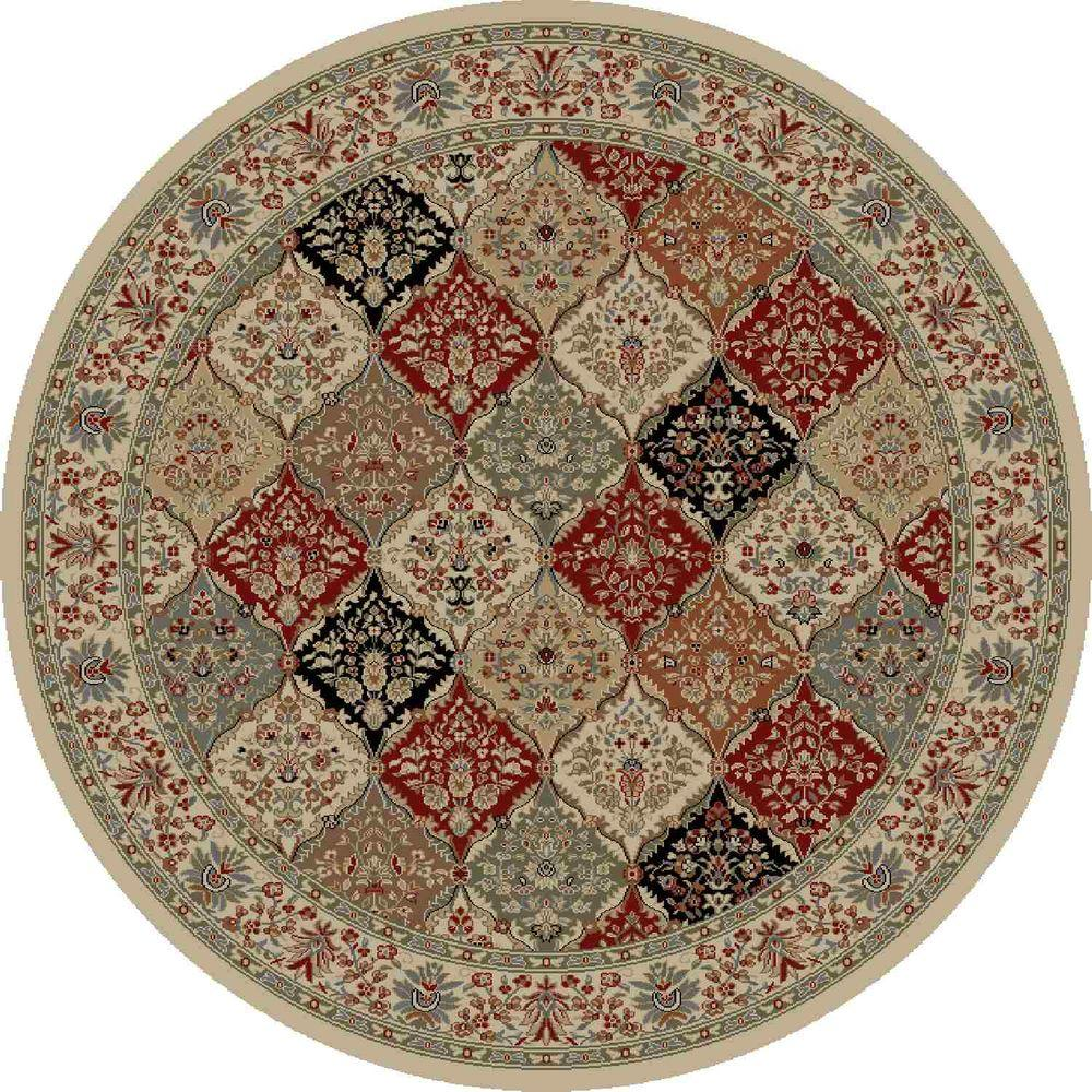 Concord Global Trading Ankara Bakhtiar Ivory 7 ft. 10 in. Round Area Rug