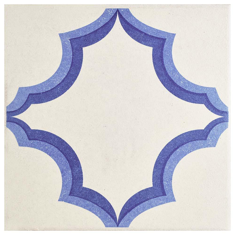 Merola Tile Cementi Quatro Ara Centro 7 in. x 7 in. Porcelain Floor and Wall Center Tile