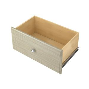 12 in. H x 24 in. W Rustic Grey Wood Deluxe Drawer Kit