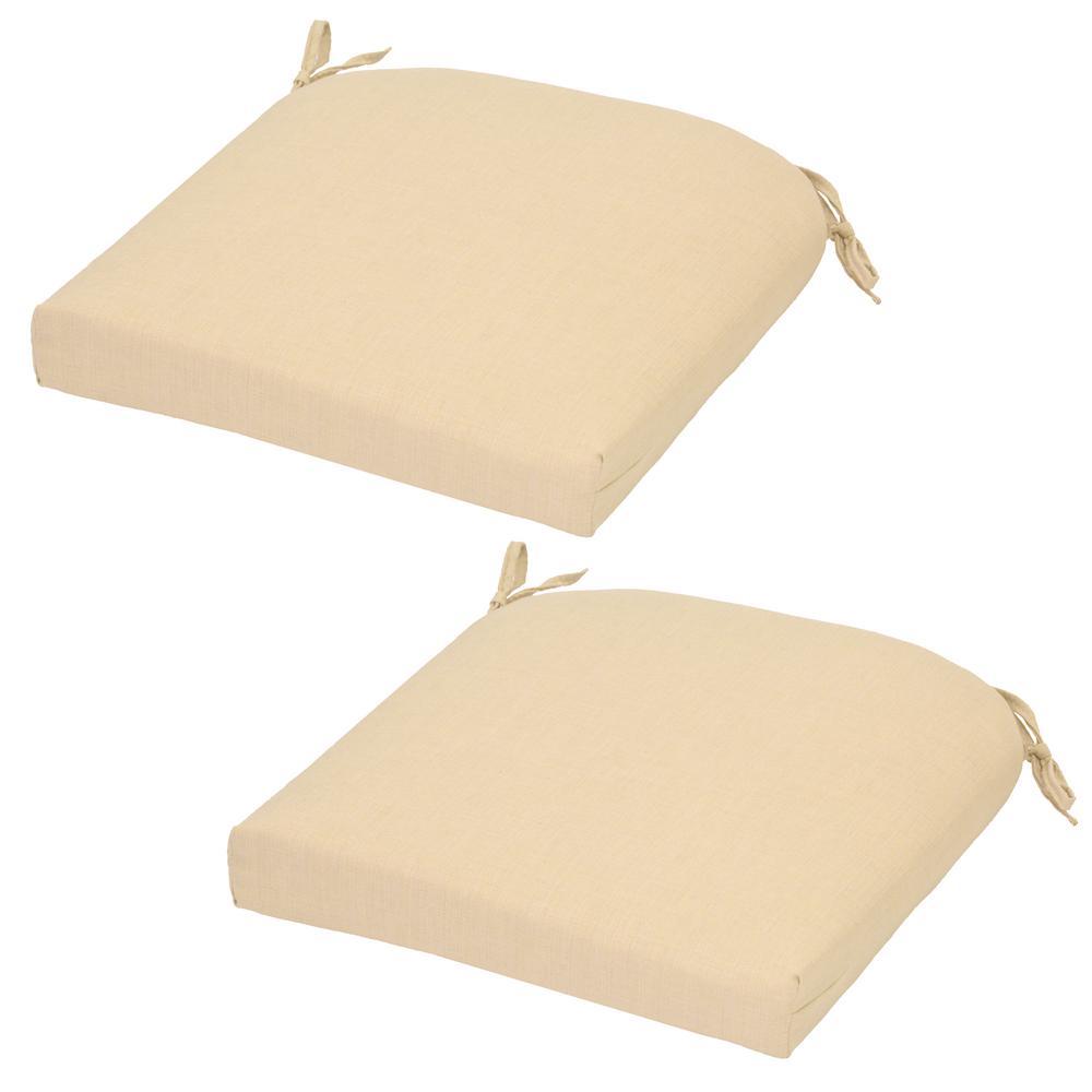 CushionGuard Oatmeal Outdoor Seat Cushion (2-Pack)