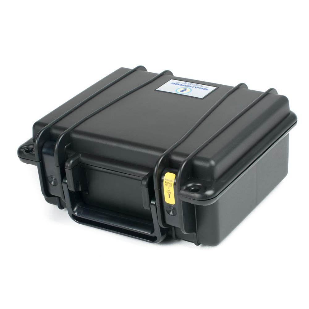 9.85 in. Watertight Tool Case in Black