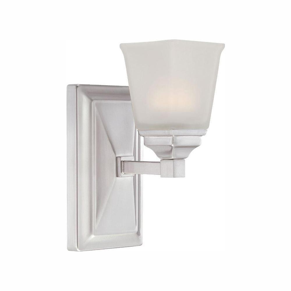 Trenton Satin Platinum Interior LED Bath Vanity Light