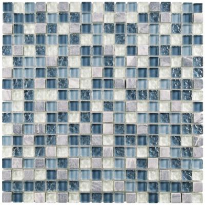 Tessera Mini Gulf 11-3/4 in. x 11-3/4 in. x 8 mm Glass and Stone Mosaic Tile