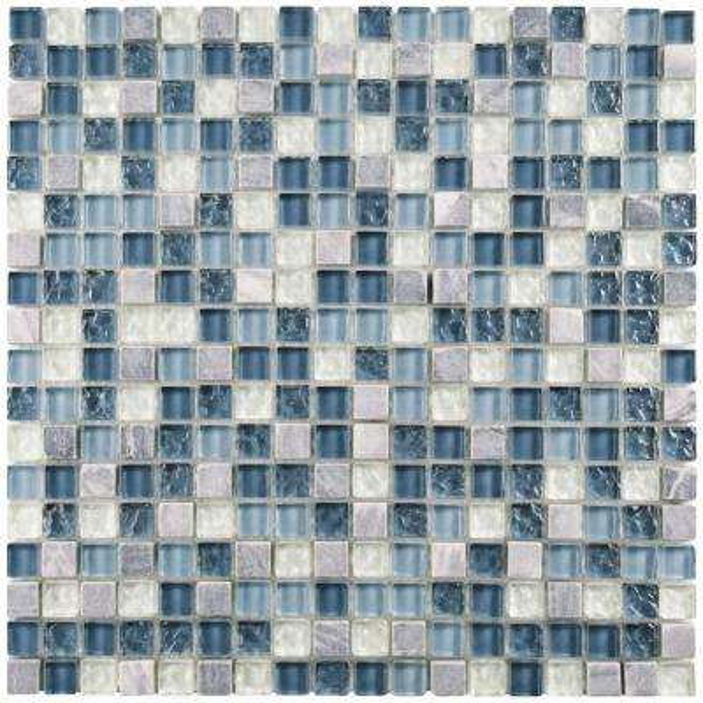 Tessera Mini Gulf 11-3/4 in. x 11-3/4 in. x 8 mm Glass and Stone Mosaic Tile