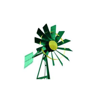 20 ft. Green and Yellow Powder Coated Windmill Aeration System
