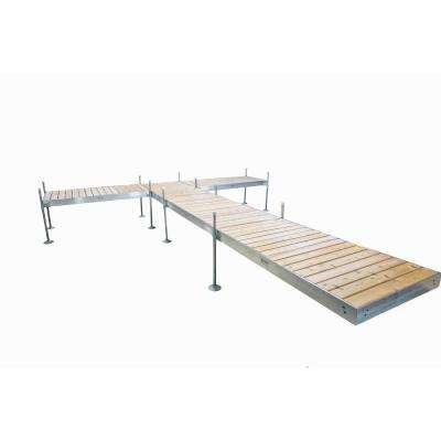 24 ft. L T-Style Aluminum Frame with Cedar Decking Complete Dock Package