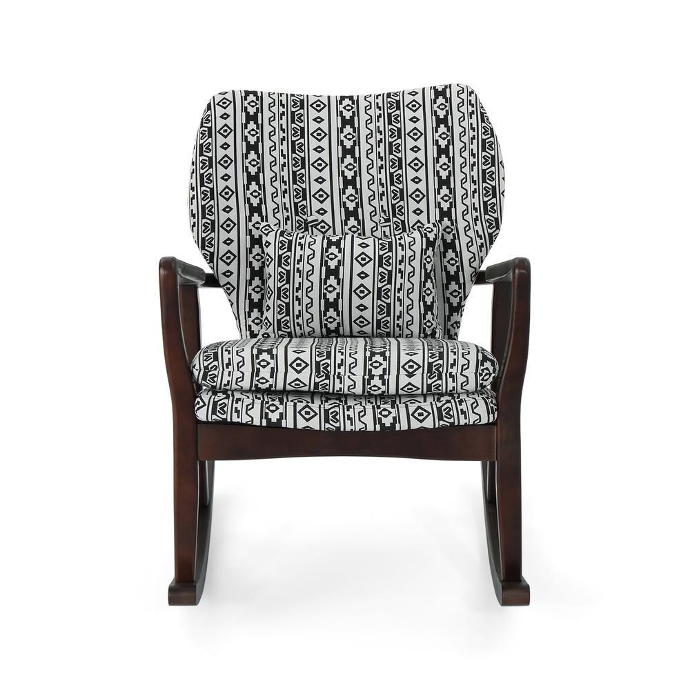 Fabulous Sallie Navy Blue And White Upholstered Juvenile Kids Rocker Ibusinesslaw Wood Chair Design Ideas Ibusinesslaworg