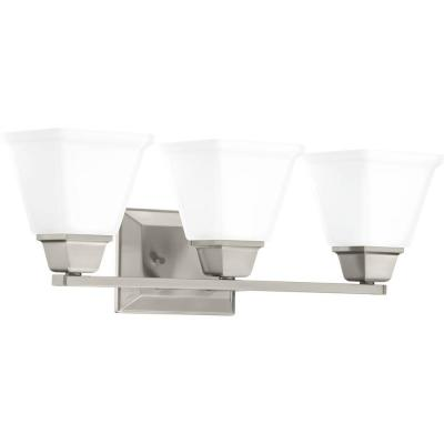 Clifton Heights Collection 3-Light Brushed Nickel Bath Light