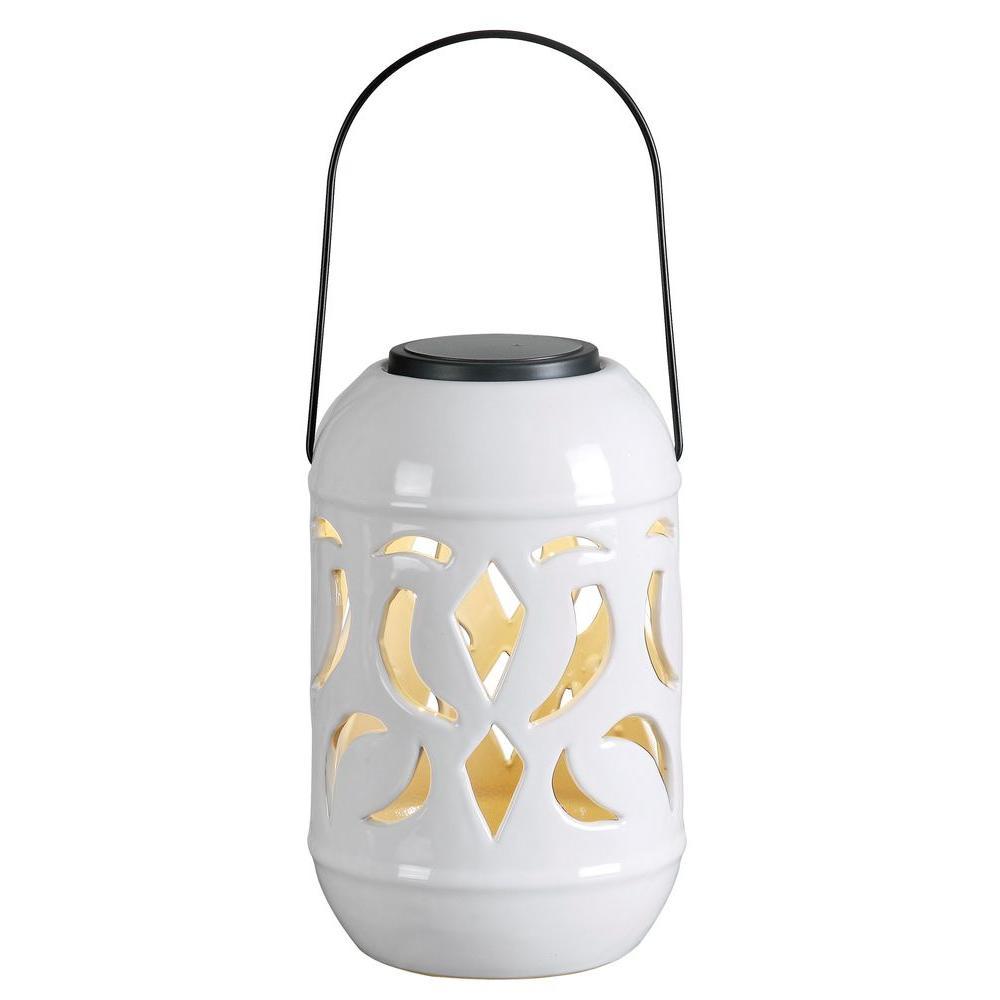 Lydia White Solar Powered Lantern