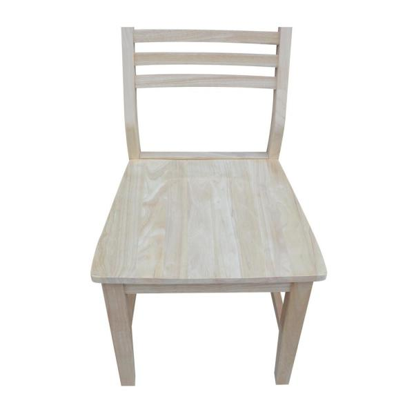 International Concepts Mid Century Modern Slat Back Unfinished Dining Chair Set Of 2 C 4p The Home Depot