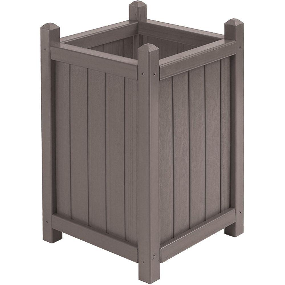 Cal Designs 16 in. Dia Mist All Weather Composite Crown Planter