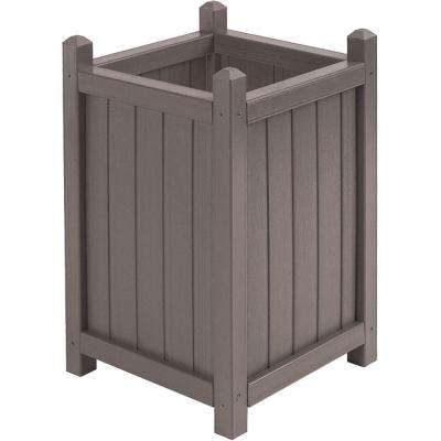 16 in. Dia Mist All Weather Composite Crown Planter