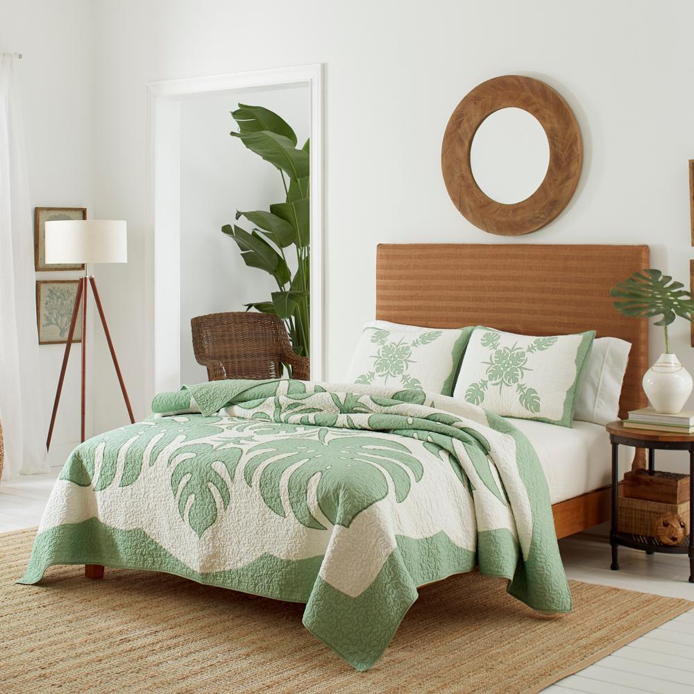 Molokai Green Full/Queen Cotton Quilt