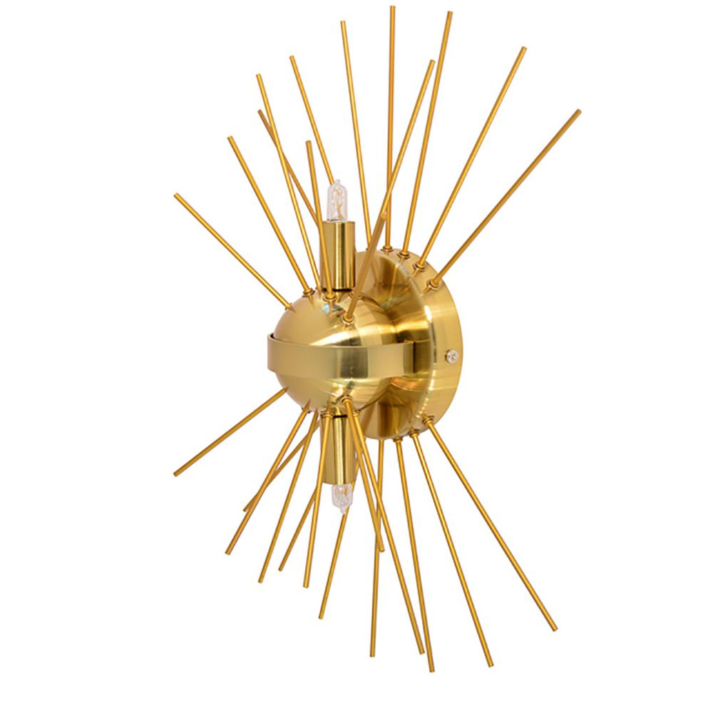2-Light Gold Sconce with Electroplated Steel Shade