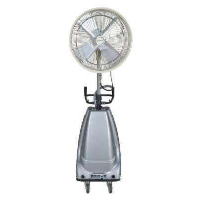 24 in. 3-Speed Portable and Oscillating High Pressure Misting Fan with 16 Gal. Water Tank