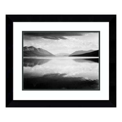 """""""Evening, McDonald Lake, Glacier National Park, MT - National Parks and Monuments, 1941"""" by Ansel Adams Framed Wall Art"""
