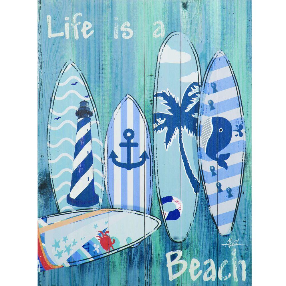 """31.496 in. H x 23.622 in. W """"Avila Beach Trip I"""" Artwork in Wood Wall Art"""