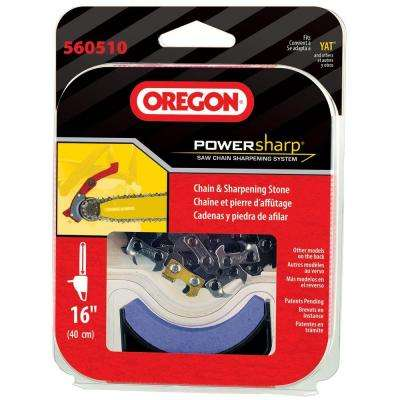 PowerNow CS300 Replacement Chainsaw Chain, PowerSharp 16 in. (Includes Sharpening Stone)