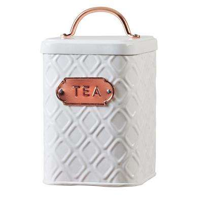 Ventana 60 oz. Metal Storage Canister with Tea Label