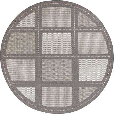 Round - Gray - Outdoor Rugs - Rugs - The Home Depot