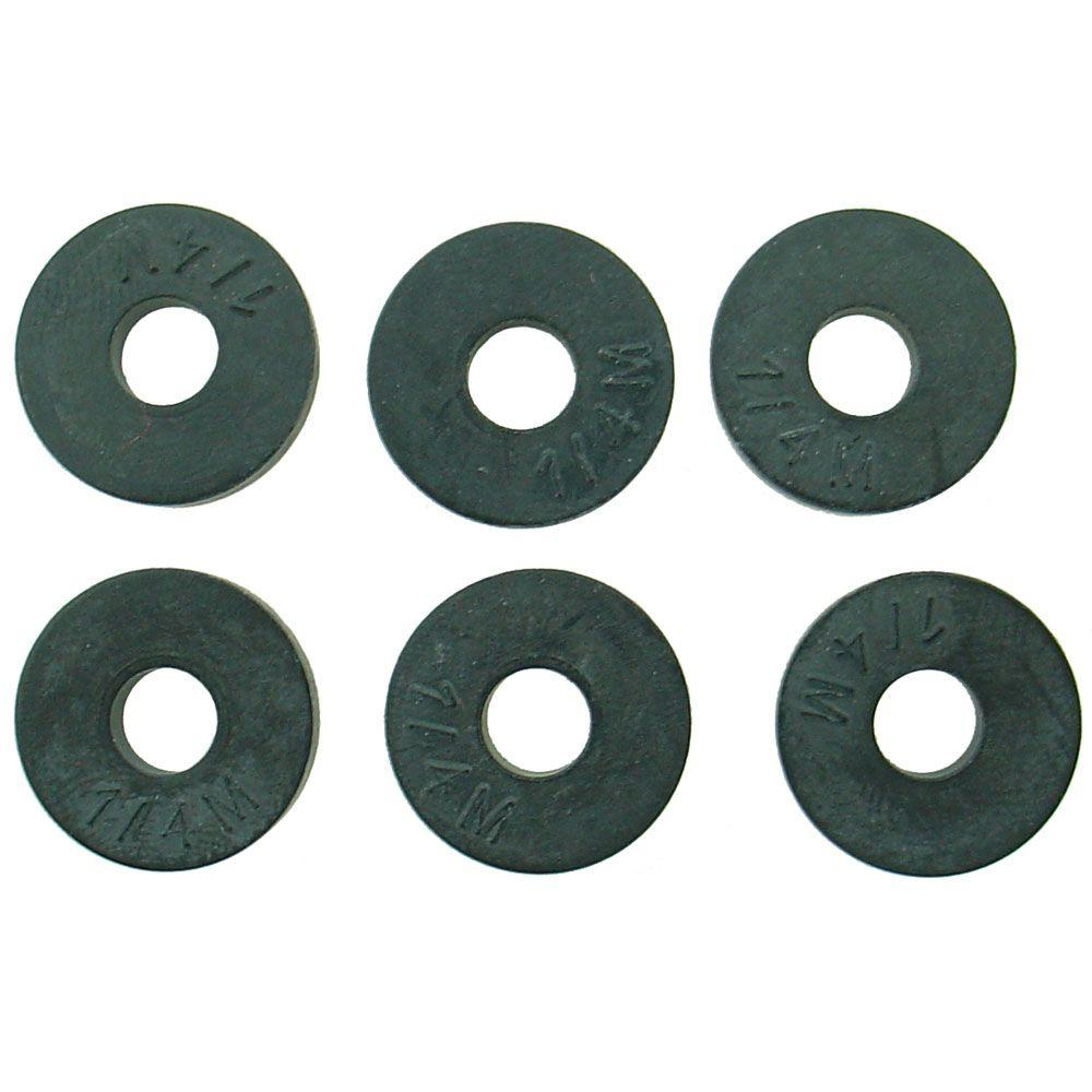 PartsmasterPro 5/9 in. O.D. (1/4M Trade Size) Flat Faucet Washers (6 ...