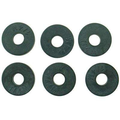 5/9 in. O.D. (1/4M Trade Size) Flat Faucet Washers (6-Pack)