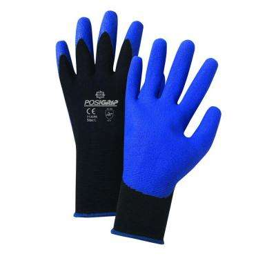 Air Injected PVC Palm Nylon Dozen Pair Gloves-Large