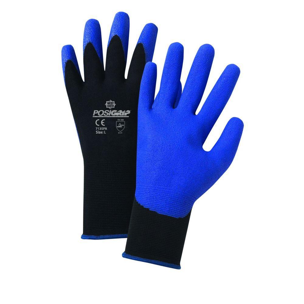 Air Injected PVC Palm Nylon Dozen Pair Gloves-Extra Large