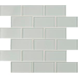 B And Q Self Adhesive Mosaic Tiles Msi Arctic Ice 3 In X 6 In