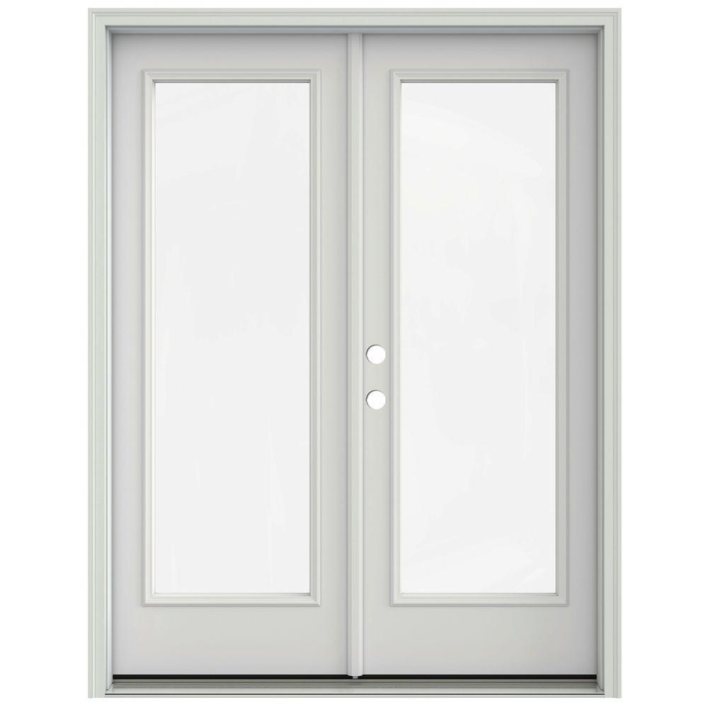 Jeld Wen 60 In X 80 In Primed Prehung Right Hand Inswing 1 Lite French Patio Door With