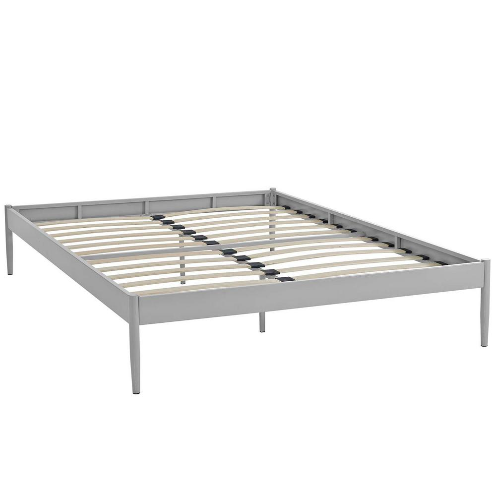 modway elsie gray king bed frame mod 5475 gry the home depot