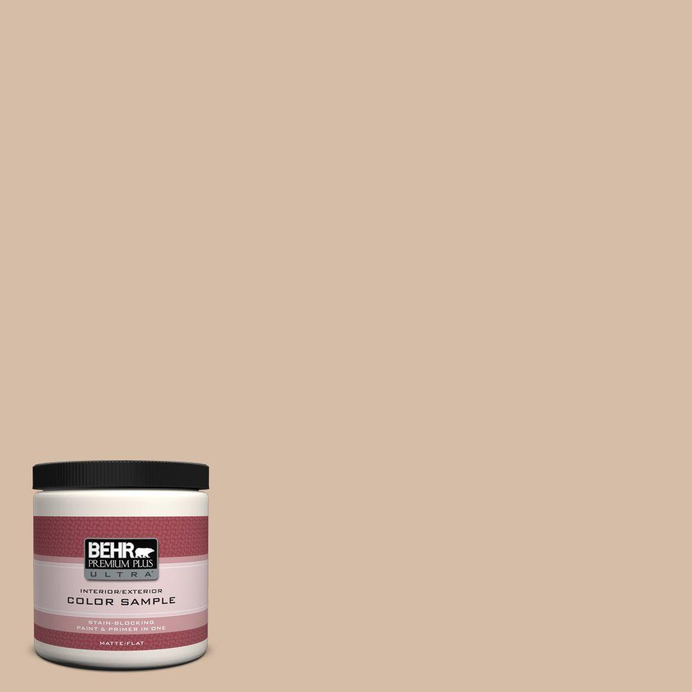 BEHR Premium Plus Ultra 8 oz. Home Decorators Collection Tiramisu Cream Interior/Exterior Paint Sample