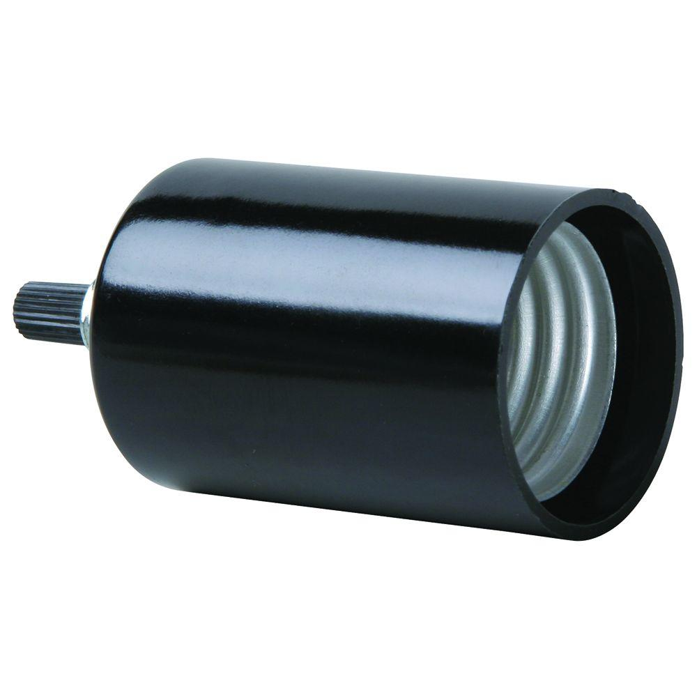 Pass & Seymour 250-Volt 660-Watt Black Lampholder Candelabra Base Turn Knob-DISCONTINUED