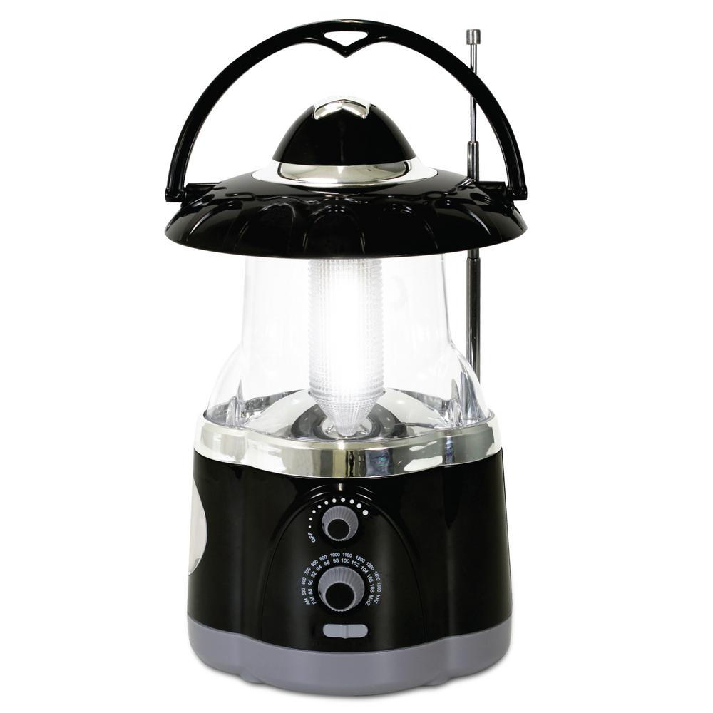 Northpoint Multifunction Battery Operated Black Radio Lantern with Flashlight