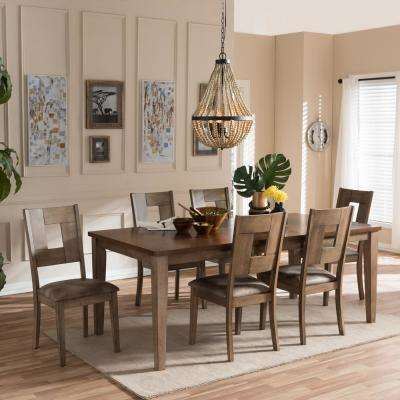 Gillian 7 Piece Gray Wood Dining Set