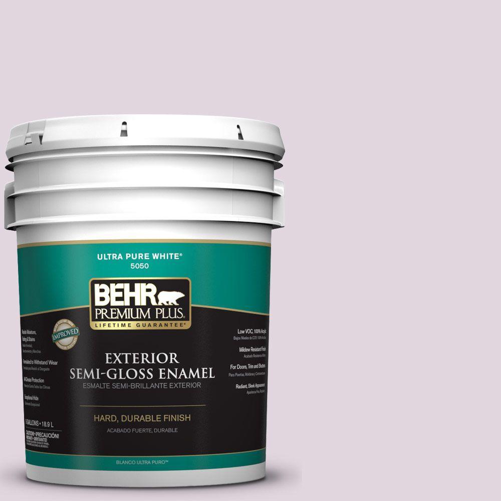 5-gal. #S110-1 Secret Scent Semi-Gloss Enamel Exterior Paint