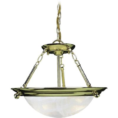 Lunar 3-Light Polished Brass Interior Pendant