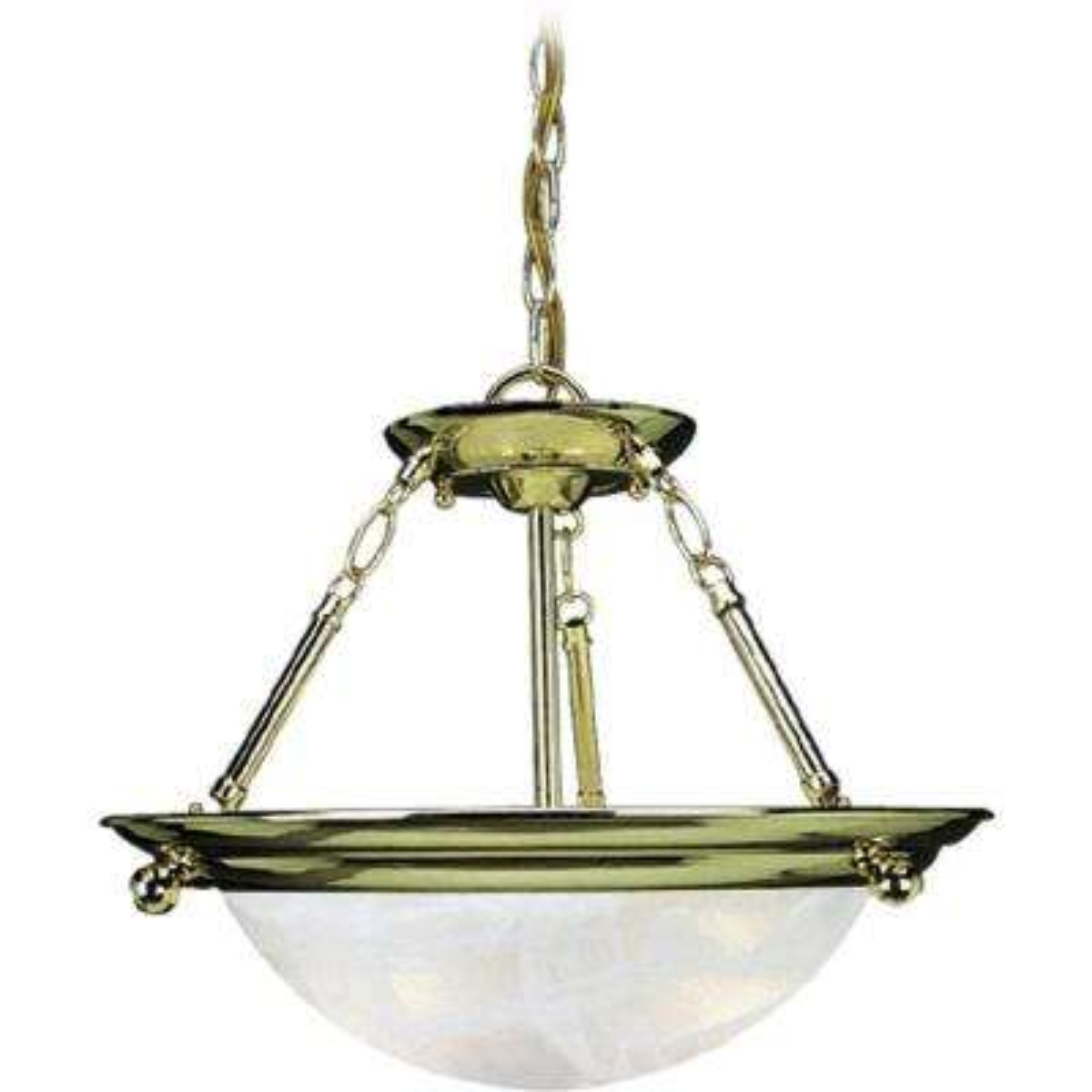 Lunar 3-Light Polished Brass Interior Pendant