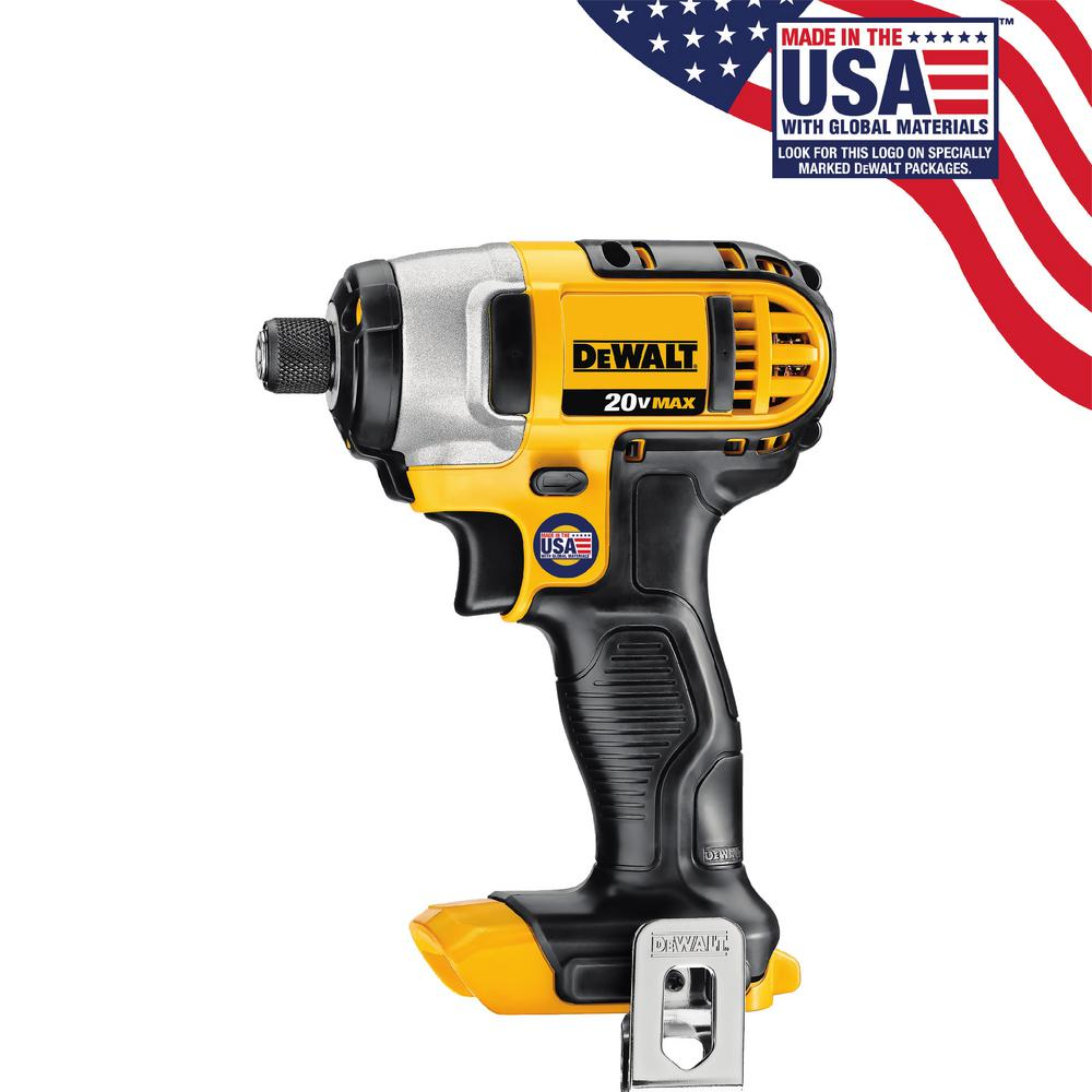 DEWALT 20-Volt Max Lithium-Ion 1/4 in. Cordless Impact Driver (Tool-Only)